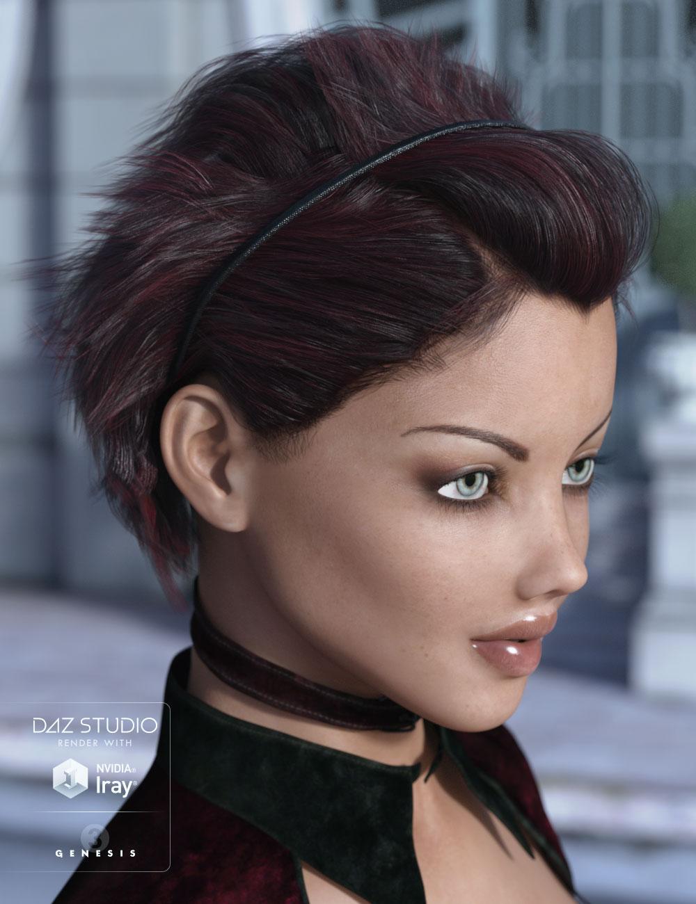 Soleil Hair for Genesis 2 & 3 Female(s) by: AprilYSH, 3D Models by Daz 3D