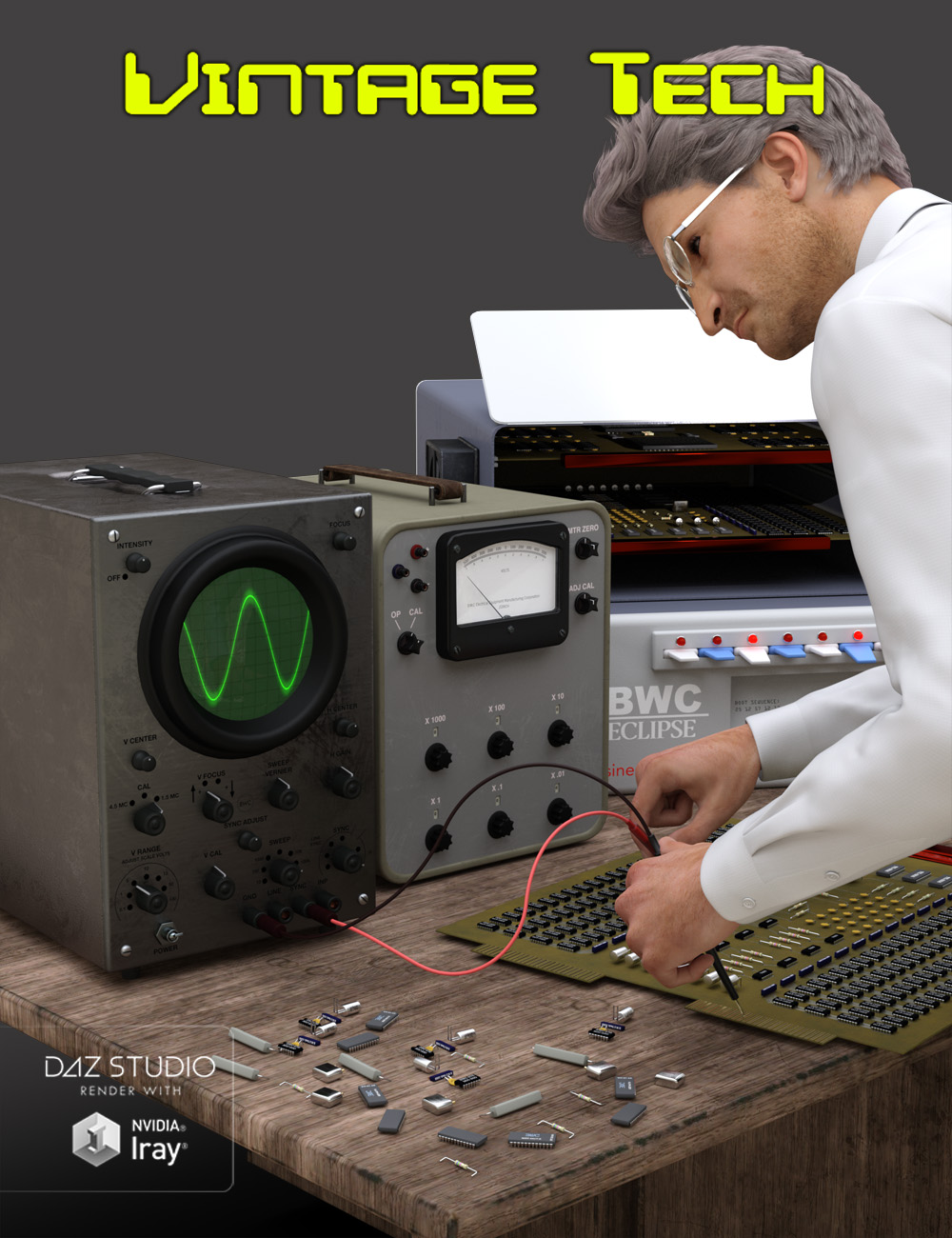 Vintage Tech by: Code 66, 3D Models by Daz 3D