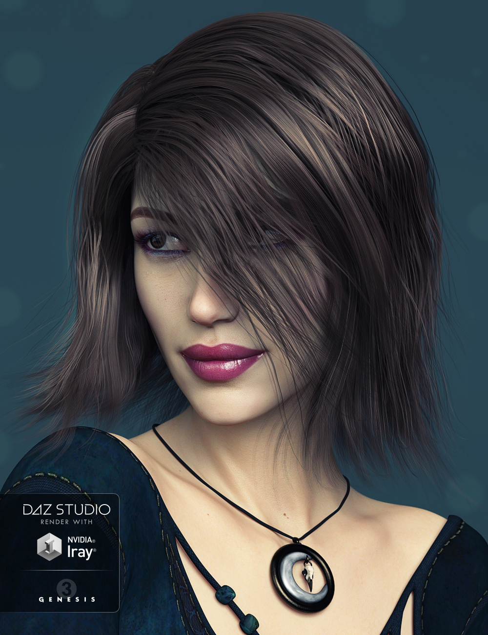 Bonny Hair for Genesis 3 Female(s) by: Kool, 3D Models by Daz 3D