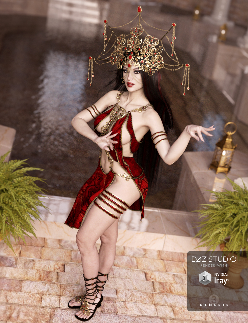 Mistress Arachne Outfit for Genesis 3 Female(s) by: Barbara BrundonSarsa, 3D Models by Daz 3D