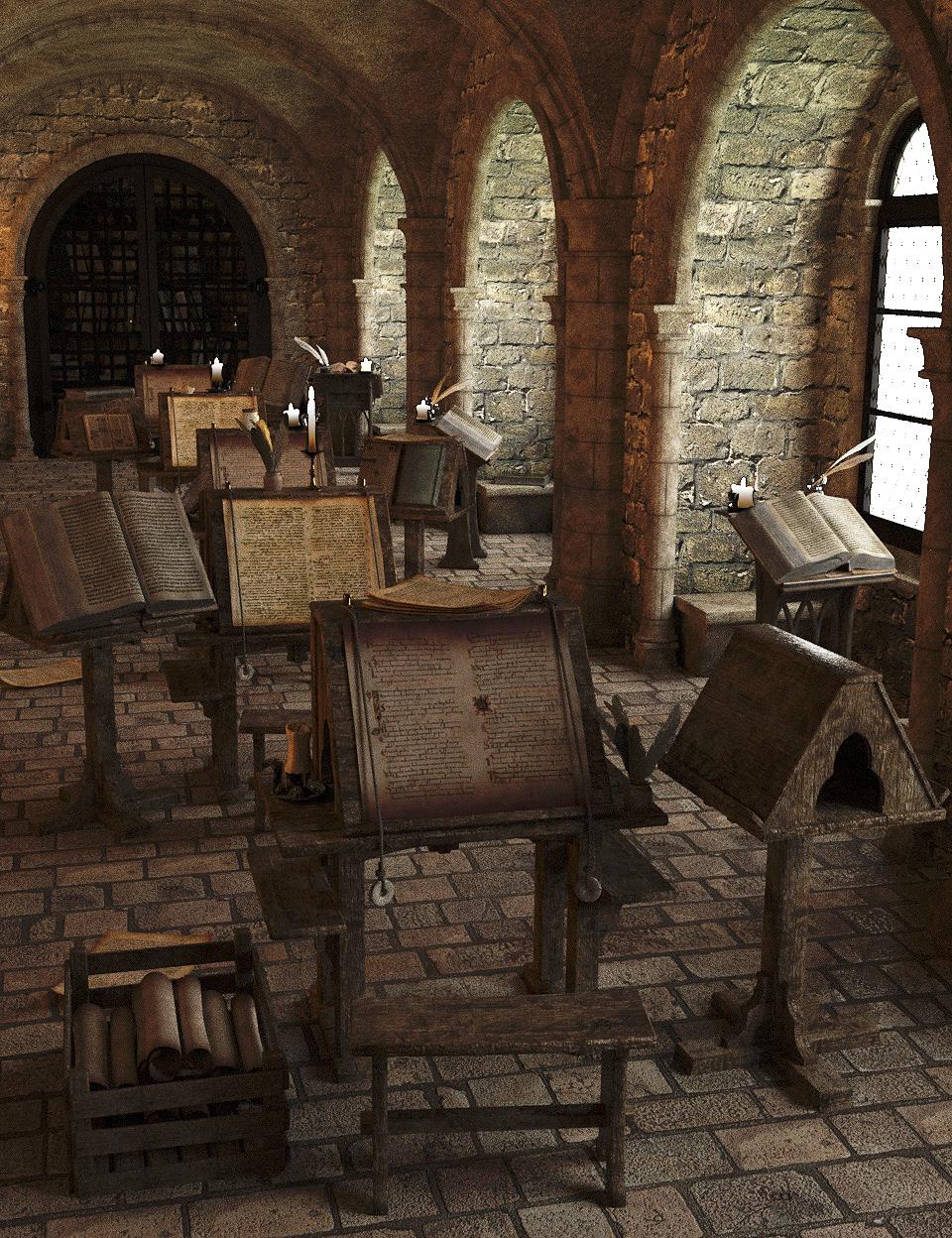 Medieval Scriptorium by: Faveral, 3D Models by Daz 3D