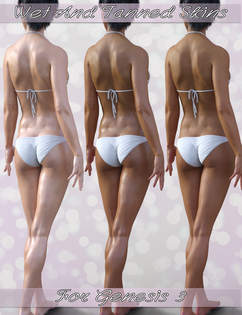 Wet and Tanned Skins for Genesis 3 by: V3Digitimes, 3D Models by Daz 3D