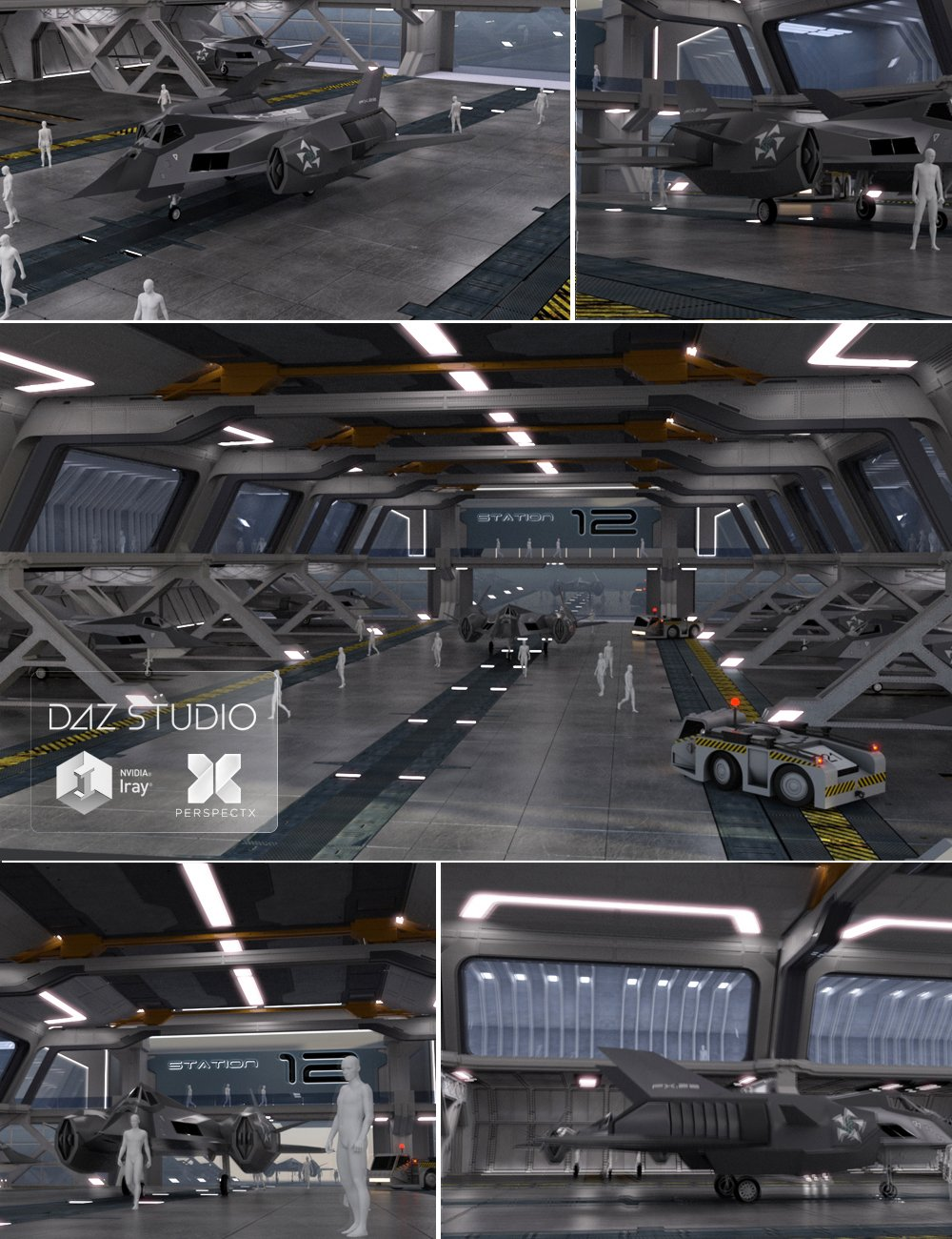 Space Dock by: PerspectX, 3D Models by Daz 3D