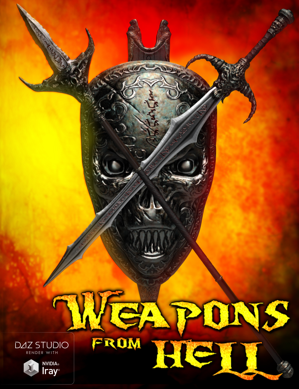 Weapons from Hell by: Groovy Patrol, 3D Models by Daz 3D