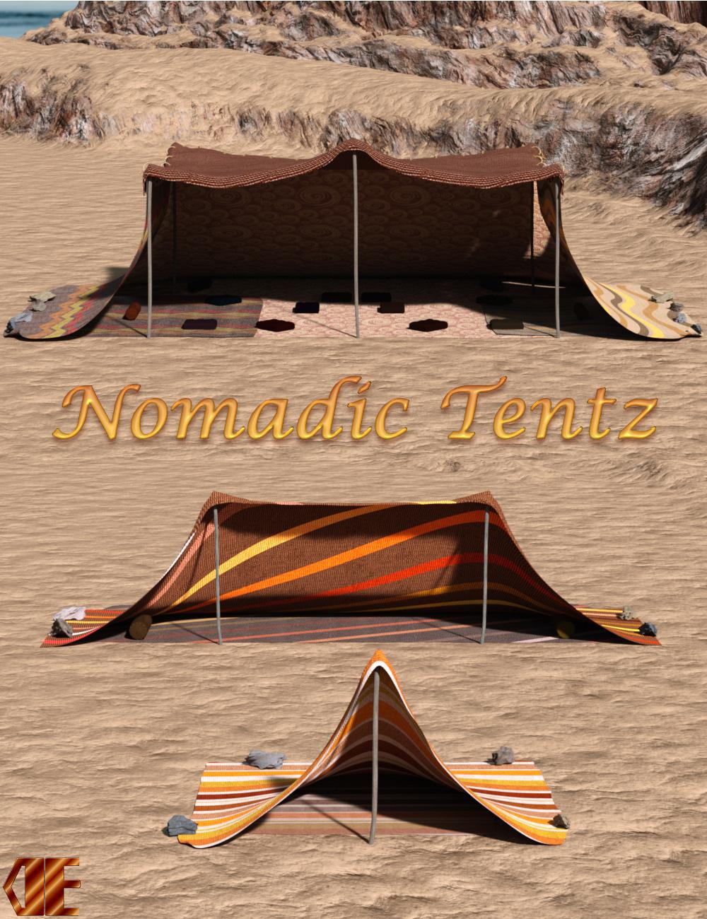 DE Nomadic Tentz by: Dark-Elf, 3D Models by Daz 3D