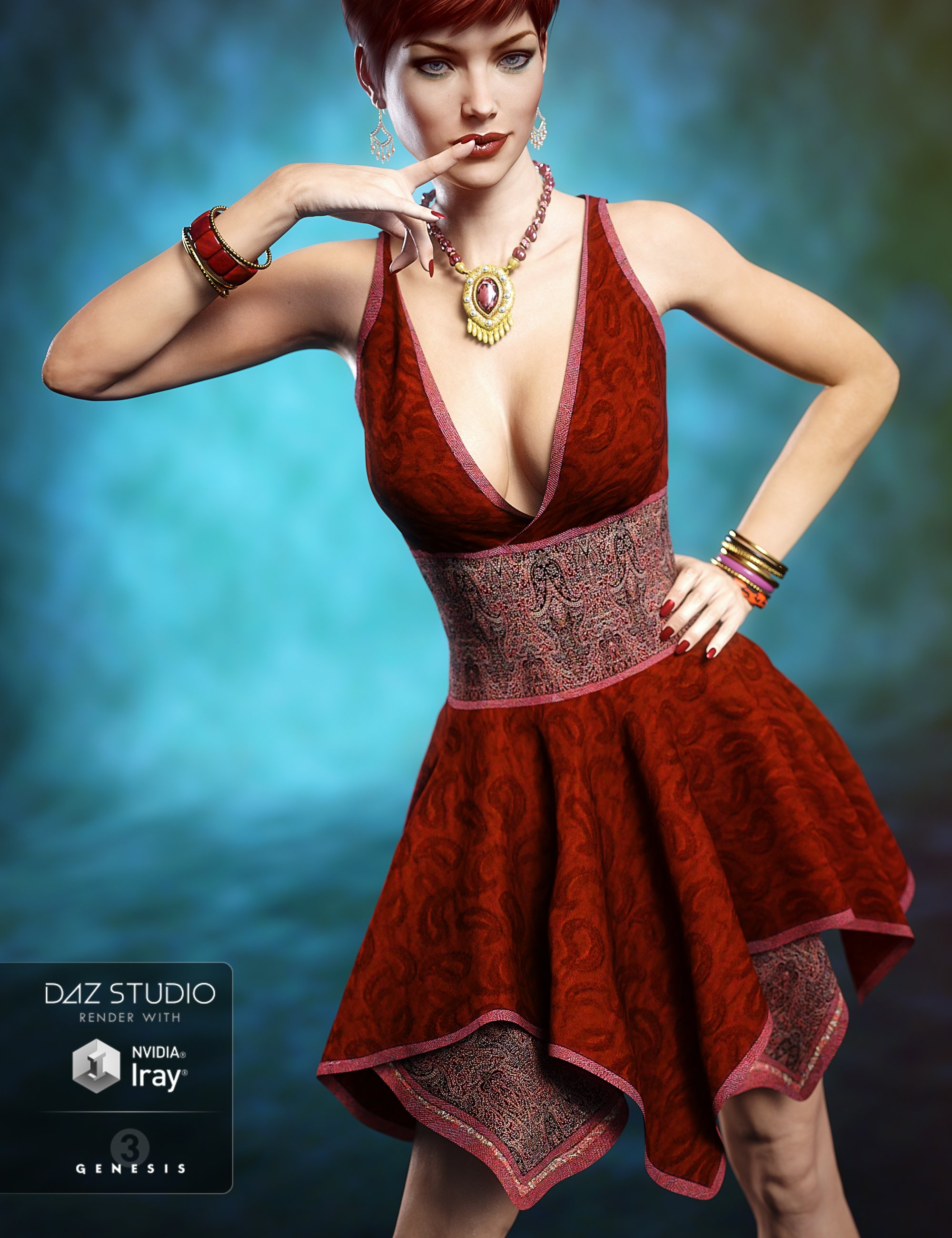 Hinata Dress by: Aave Nainen, 3D Models by Daz 3D