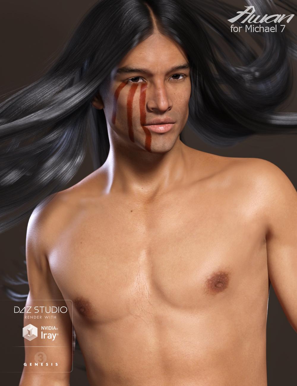 Awan HD for Michael 7 by: Raiya, 3D Models by Daz 3D