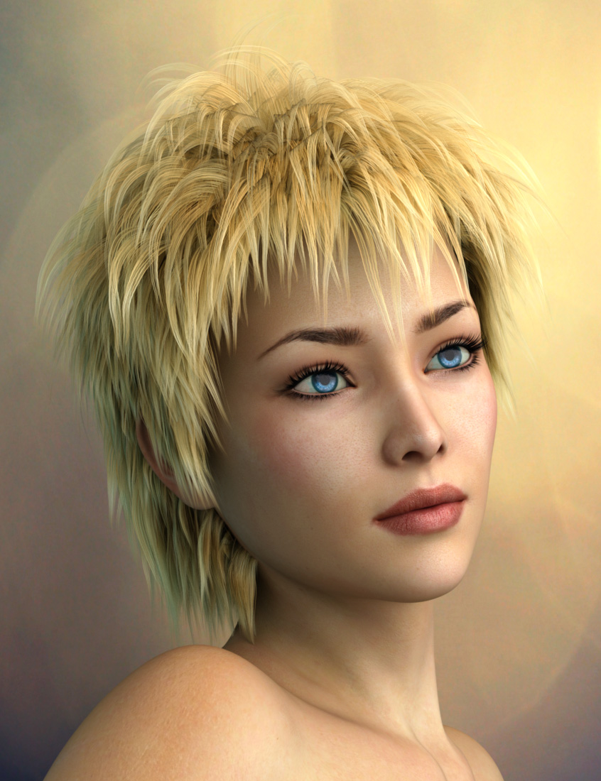 Vidra Hair for Genesis 3 Female(s) and Male(s) by: Prae, 3D Models by Daz 3D