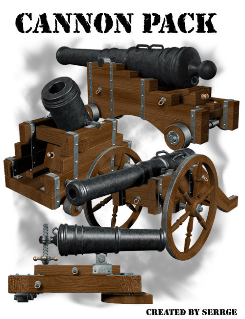 Cannon Pack by: , 3D Models by Daz 3D