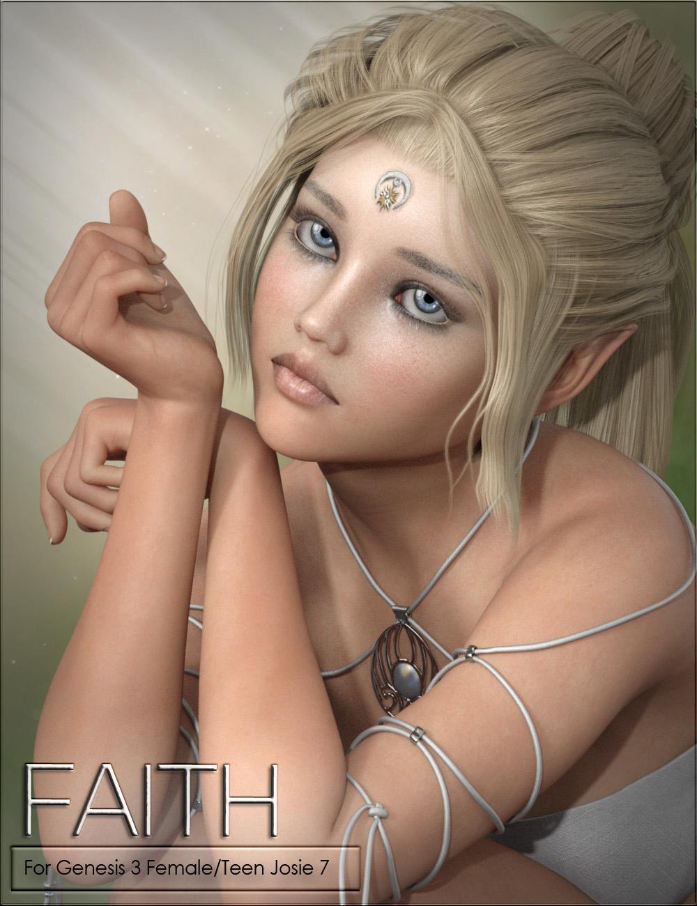 VYK Faith for Genesis 3 Female and Teen Josie 7 by: vyktohria, 3D Models by Daz 3D