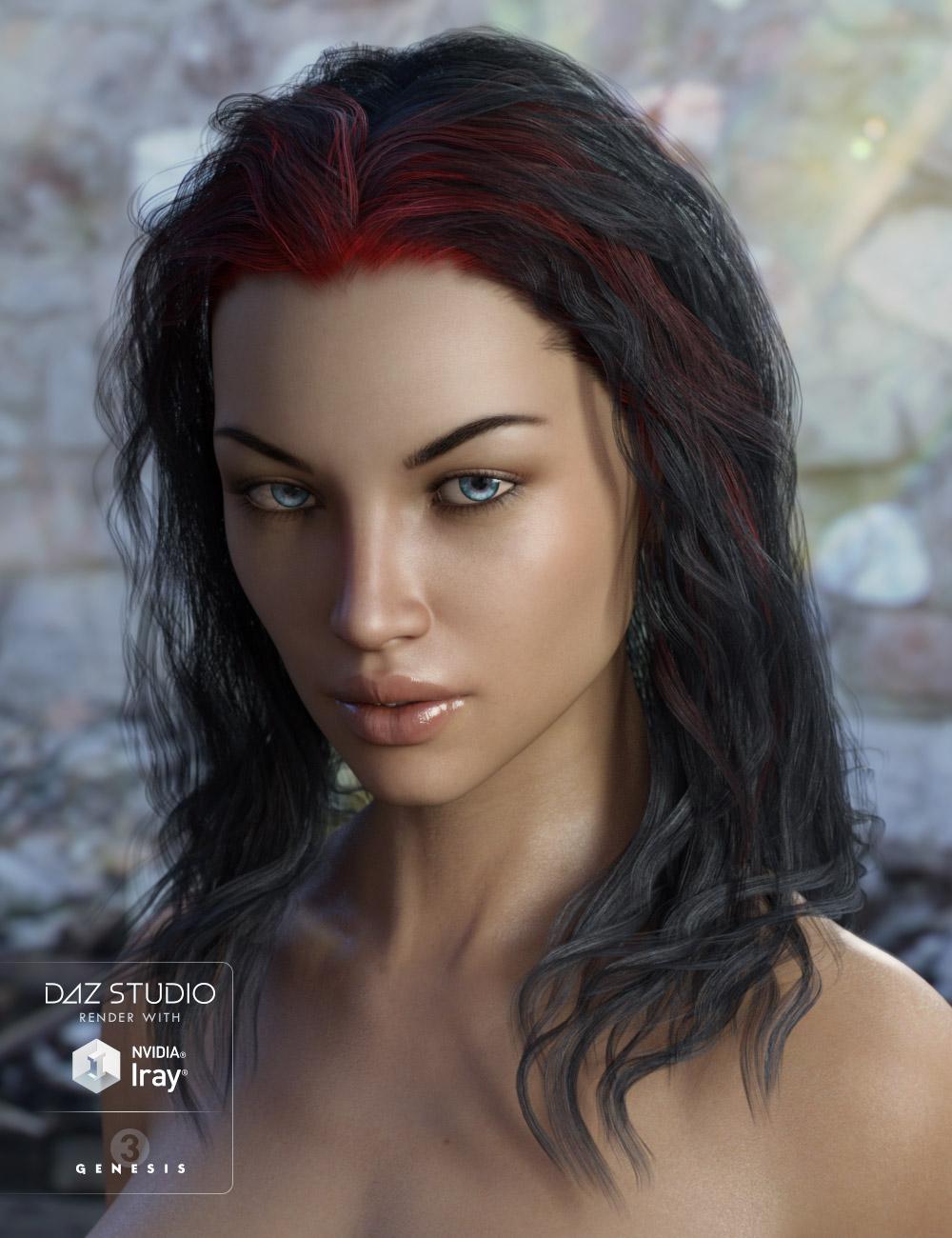 Ajax Hair for Genesis 3 Female(s) by: AprilYSH, 3D Models by Daz 3D