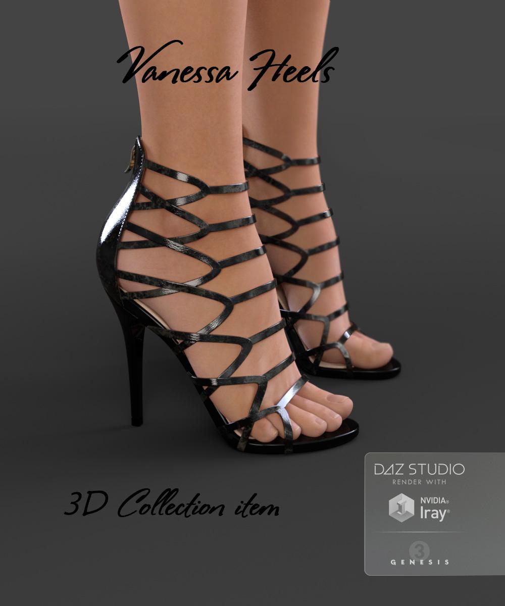 Vanessa Heels for Genesis 3 Female(s) by: Arryn, 3D Models by Daz 3D