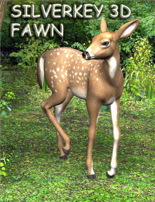 SilverKey 3d Fawn by: Debra Ross, 3D Models by Daz 3D
