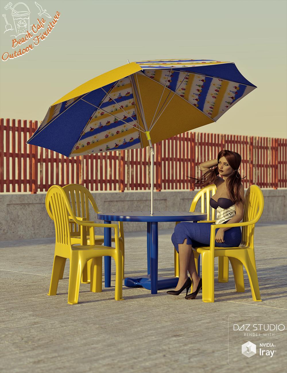 Beach Cafe Outdoor Furniture by: David BrinnenForbiddenWhispers, 3D Models by Daz 3D