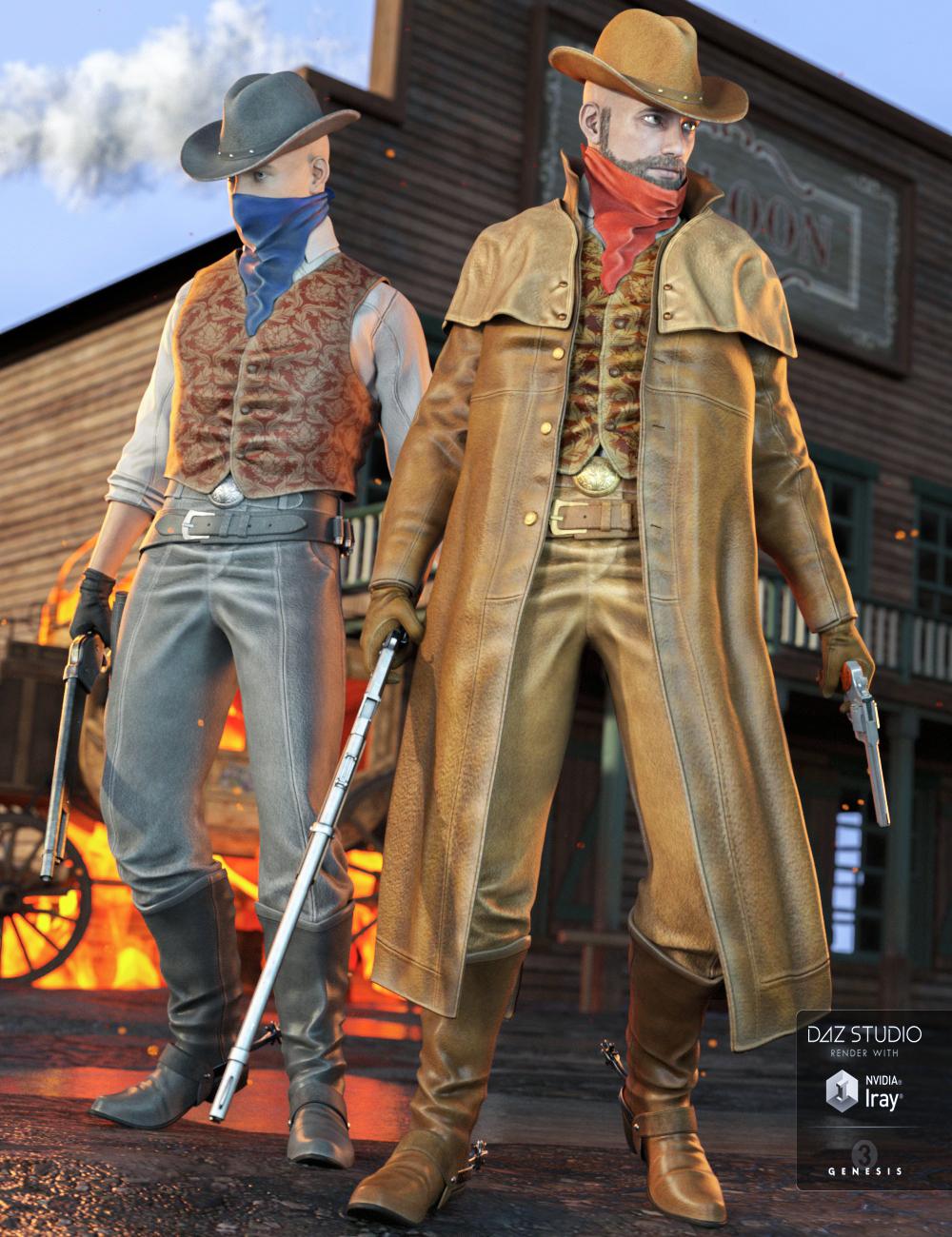 Western Outlaw 2.0 for Genesis 3 Male(s) by: Yura, 3D Models by Daz 3D