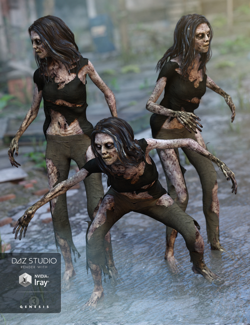 Creature of the Night Poses by: Design Anvil, 3D Models by Daz 3D