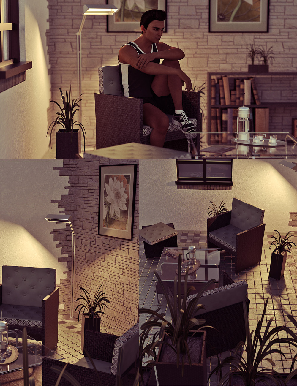Mini Haven Interior Vignette by: 3ansonForbiddenWhispers, 3D Models by Daz 3D