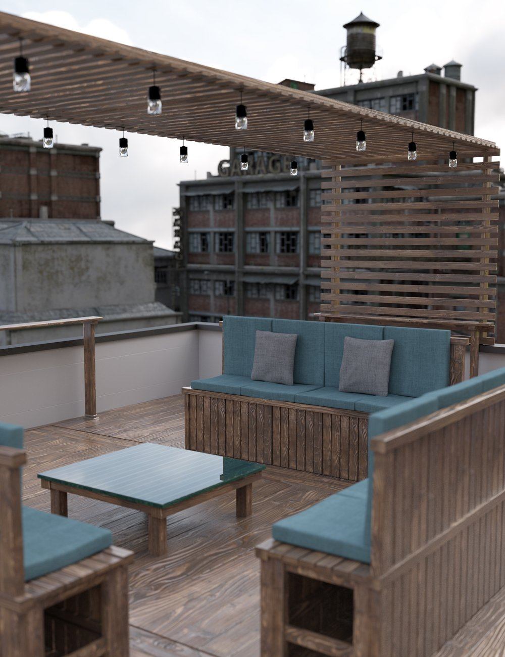 Rooftop Terrace Lounge by: Moonscape Graphics, 3D Models by Daz 3D