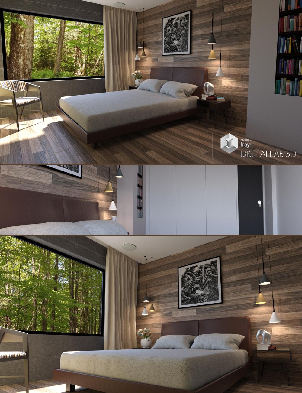 Euro Bedroom by: Digitallab3D, 3D Models by Daz 3D