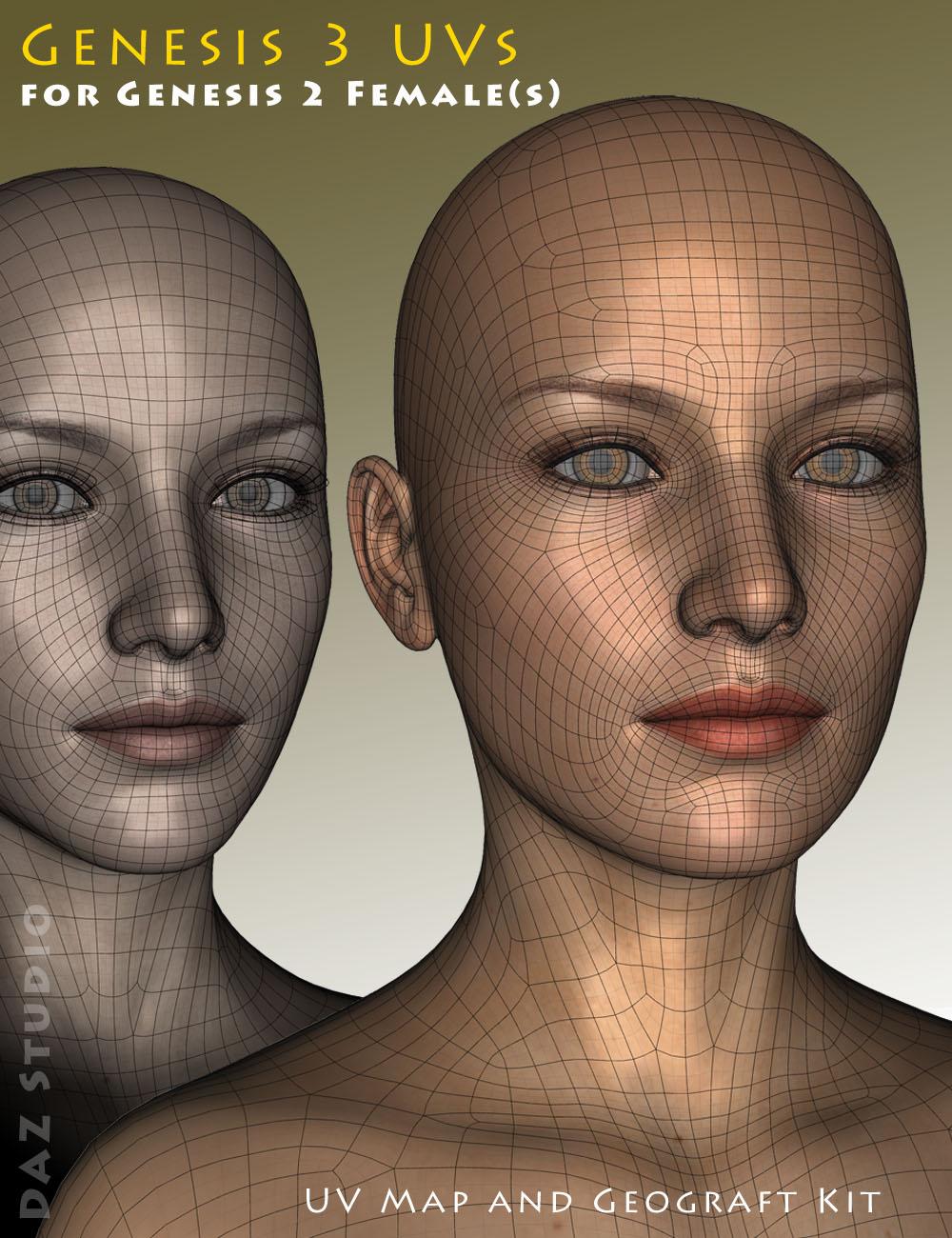 Genesis 3 UVs for Genesis 2 Female(s) by: Cayman Studios, 3D Models by Daz 3D