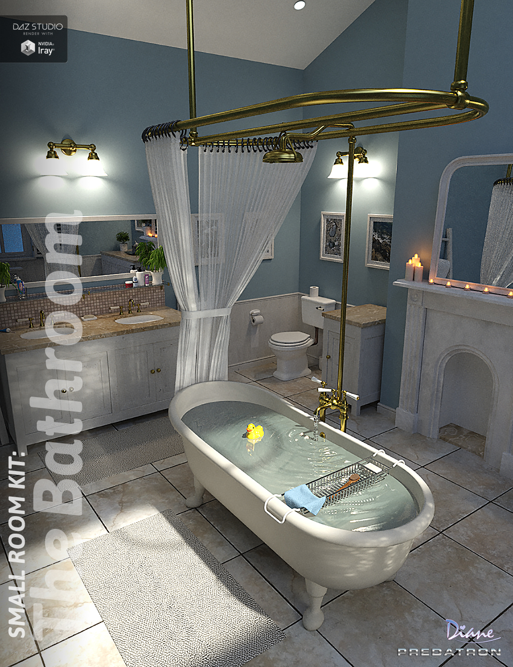 Small Room Kit: Bathroom Props by: PredatronDiane, 3D Models by Daz 3D