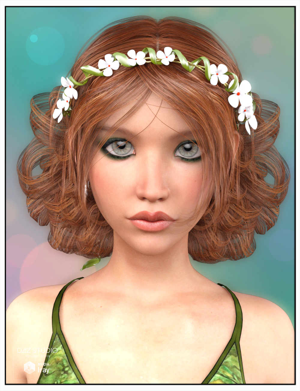 Lorin Hair for Genesis 3 Female(s) by: SWAM, 3D Models by Daz 3D