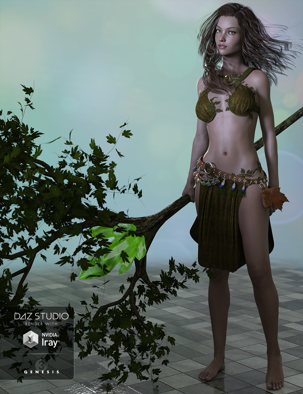 Woodland Elf for Genesis 3 Female(s) by: Ryverthorn, 3D Models by Daz 3D
