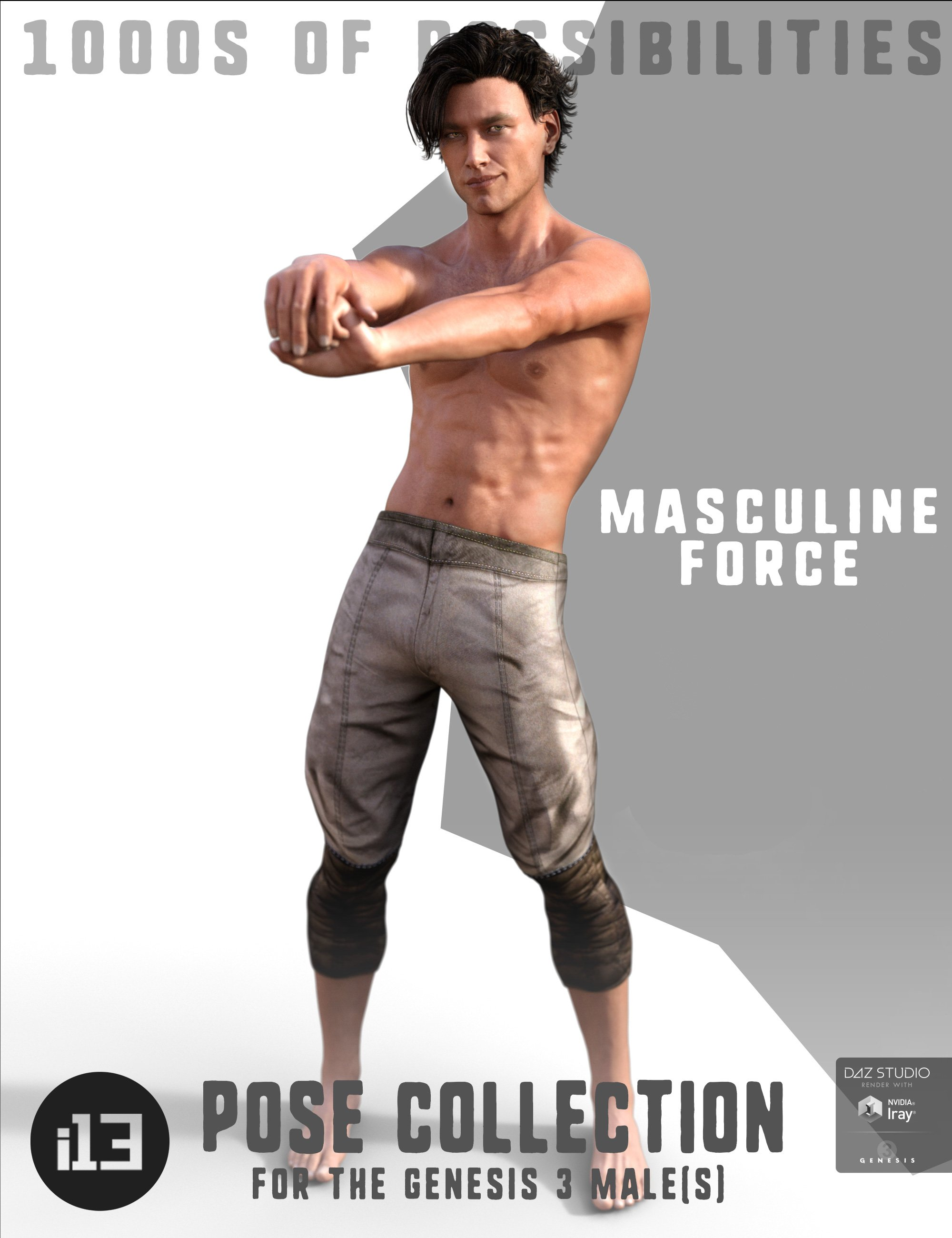 i13 Masculine Force for the Genesis 3 Male(s) by: ironman13, 3D Models by Daz 3D