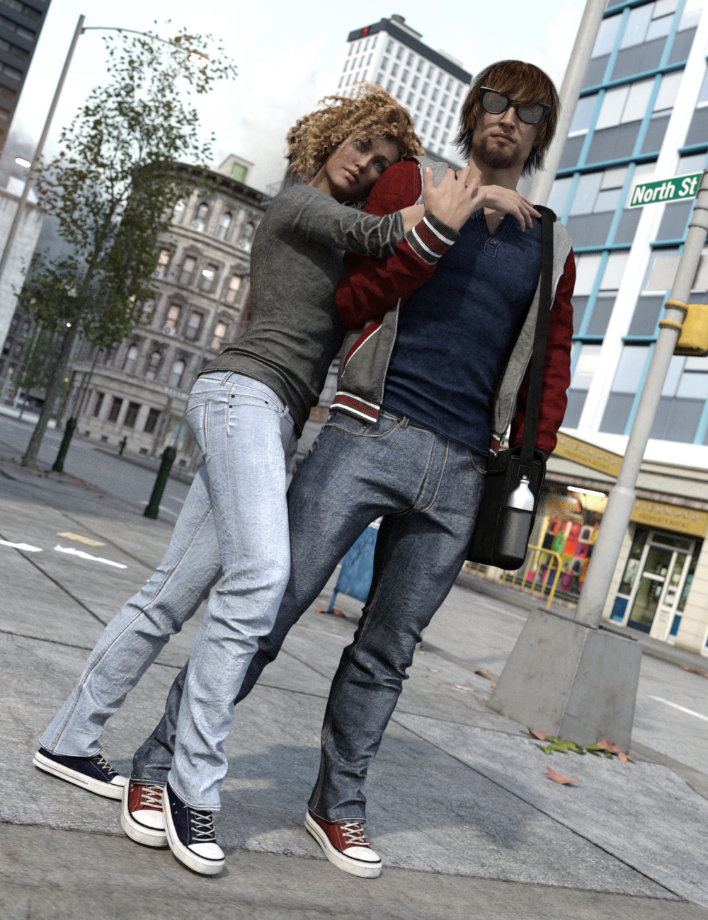 Urban Survivors for Genesis 3 Male(s) and Female(s) by: Luthbel, 3D Models by Daz 3D