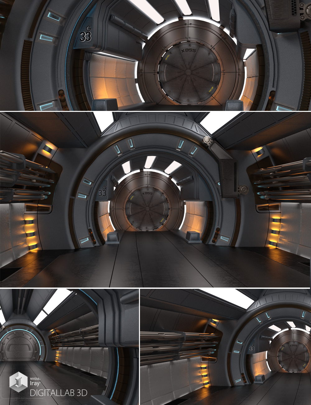 ESA Europa Corridor by: Digitallab3D, 3D Models by Daz 3D