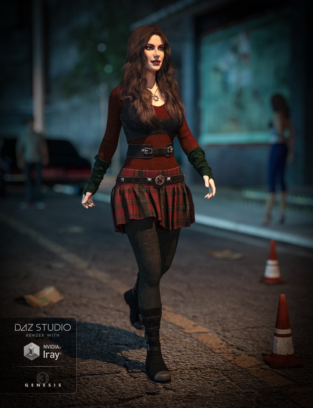 Gone Girl Outfit for Genesis 3 Female(s) by: NikisatezAnna Benjamin, 3D Models by Daz 3D