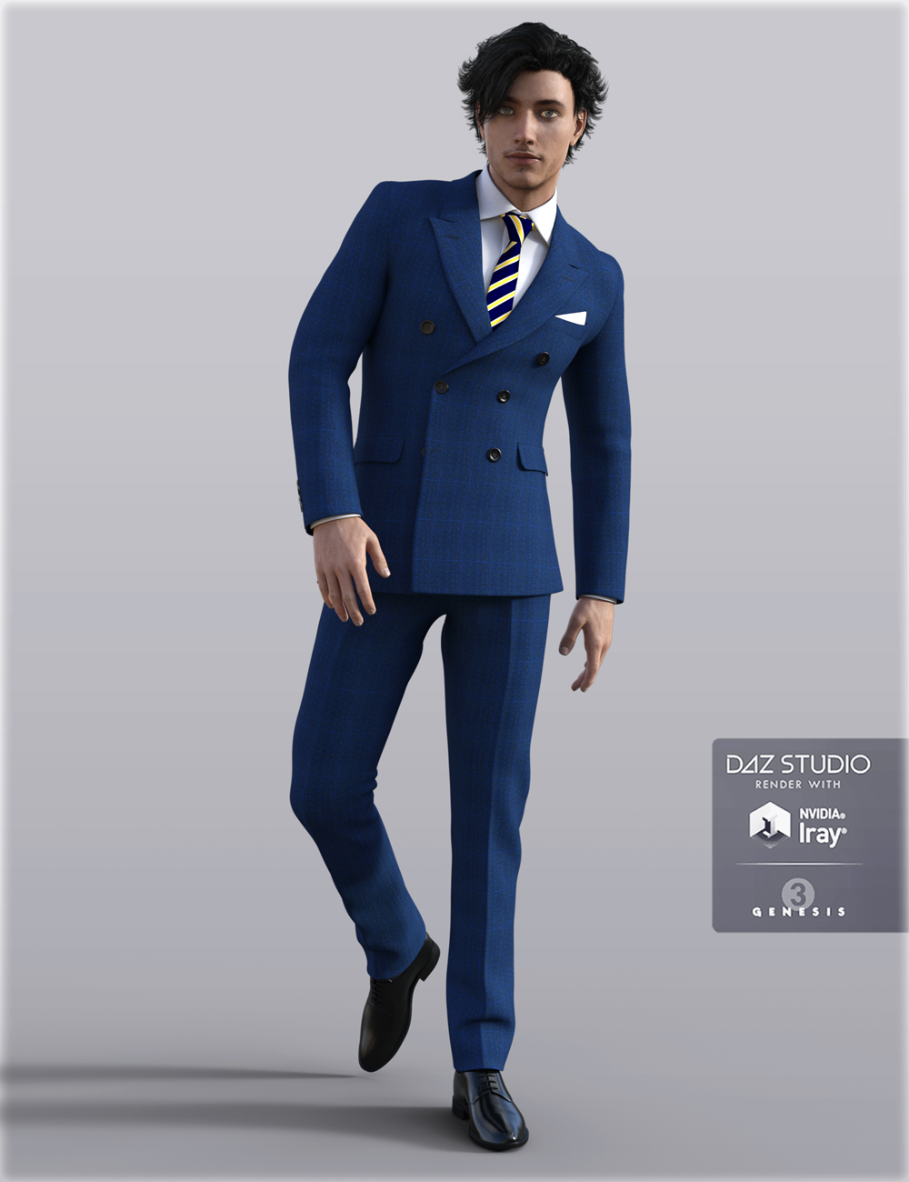 H&C Business Suit B for Genesis 3 Male(s) by: IH Kang, 3D Models by Daz 3D