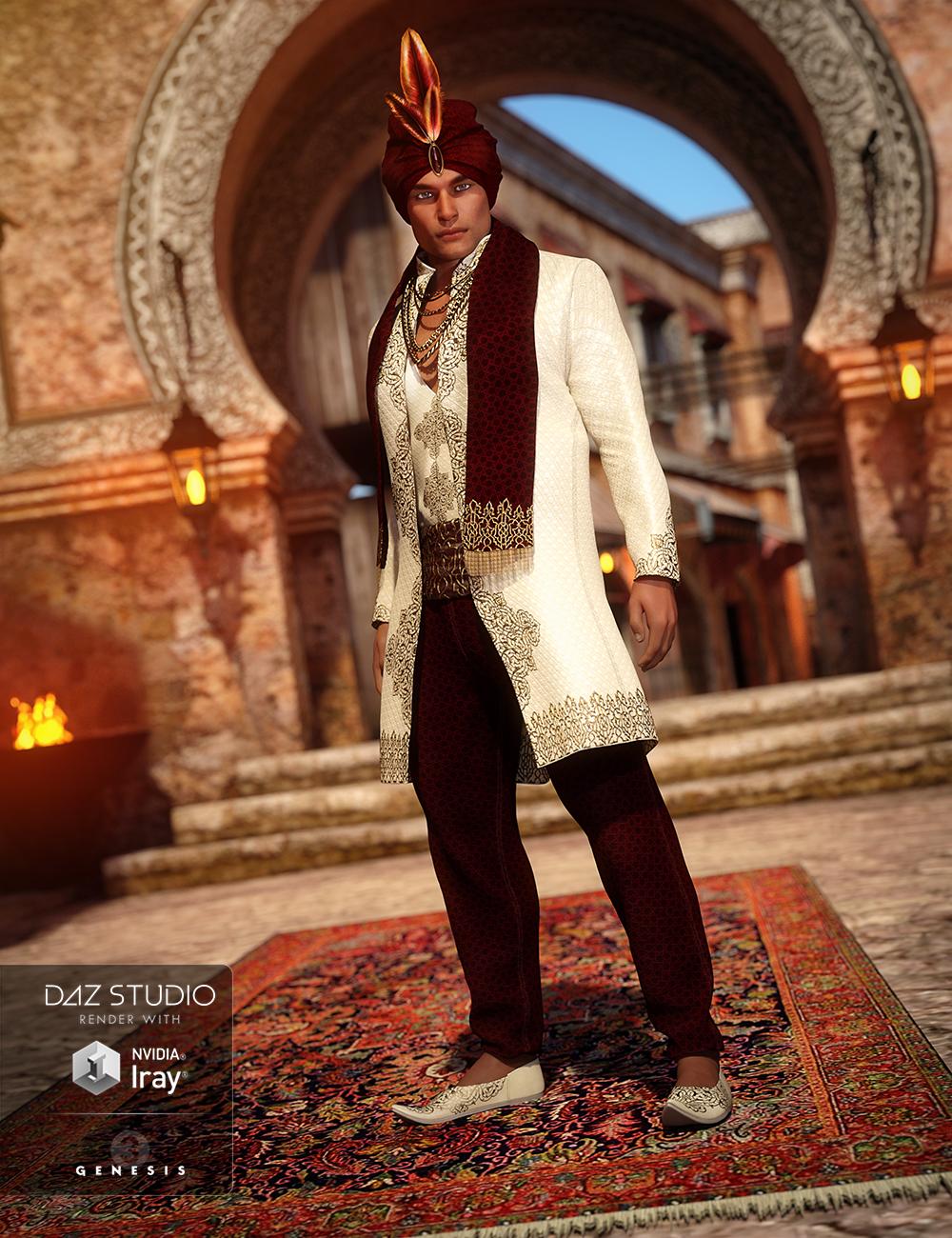 Arabian Prince Outfit for Genesis 3 Male(s) by: NikisatezArien, 3D Models by Daz 3D