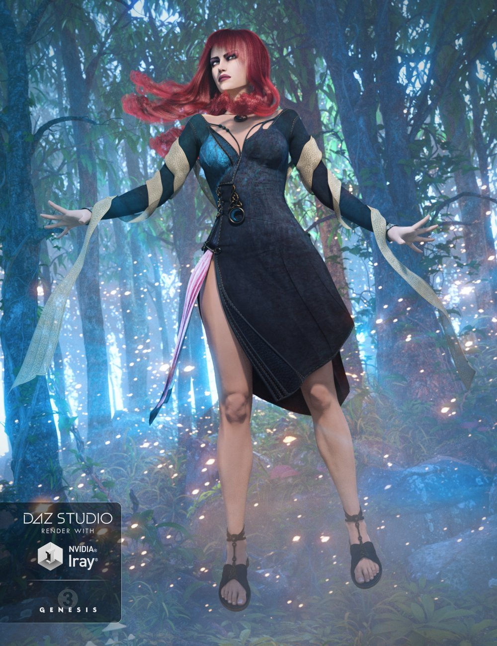 Morrigan Outfit for Genesis 3 Female(s) by: DirtyFairyMada, 3D Models by Daz 3D