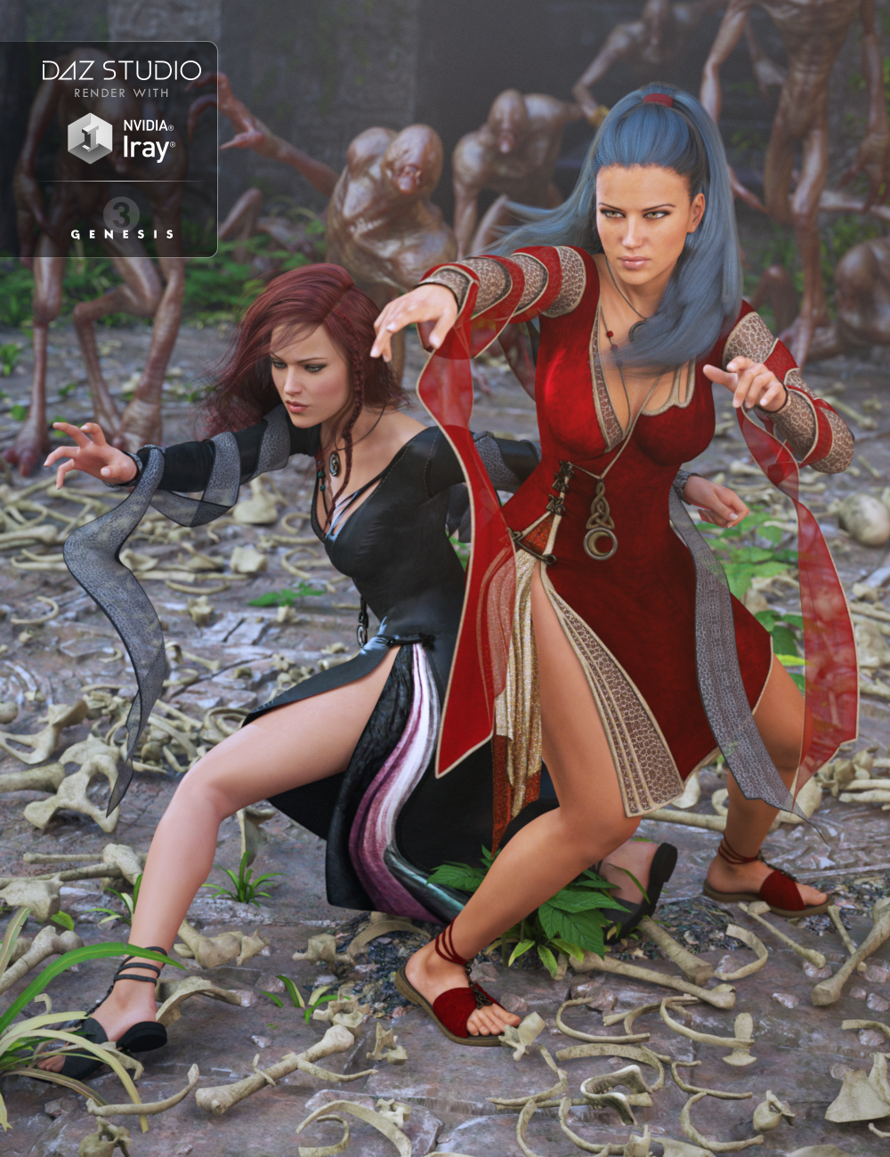 Morrigan Outfit Textures by: DirtyFairy, 3D Models by Daz 3D