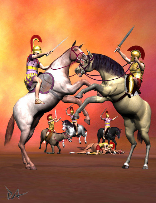 Horseback Combat by: Don Albert, 3D Models by Daz 3D