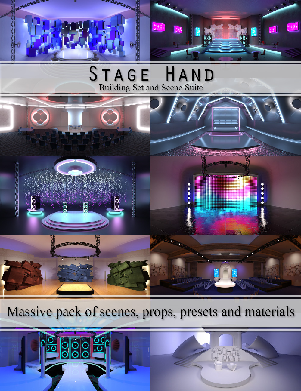 Stage Hand - Building Set and Scene Suite by: DimensionTheory, 3D Models by Daz 3D