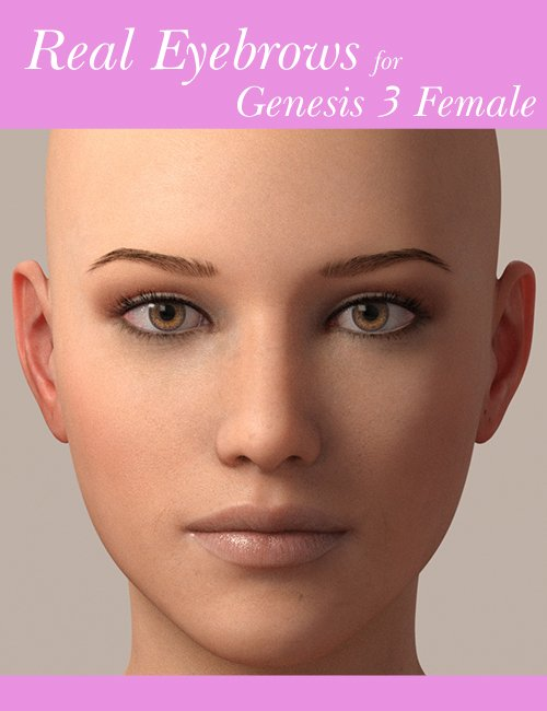 Real Eyebrows for Genesis 3 Female by: iWave, 3D Models by Daz 3D