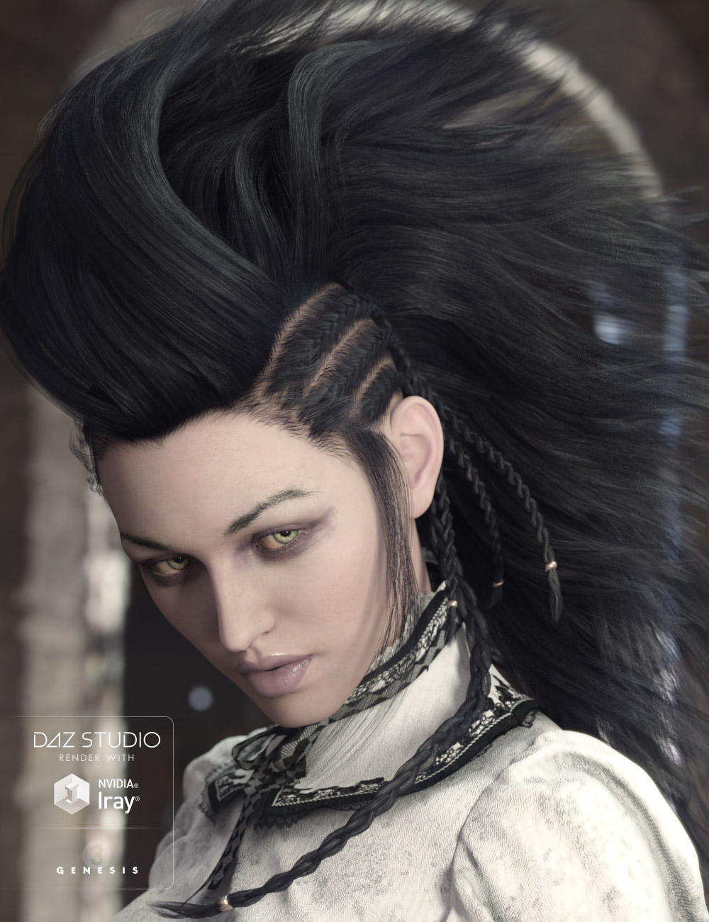 Nox Hair for Genesis 3 Male(s) & Female(s) by: AprilYSH, 3D Models by Daz 3D
