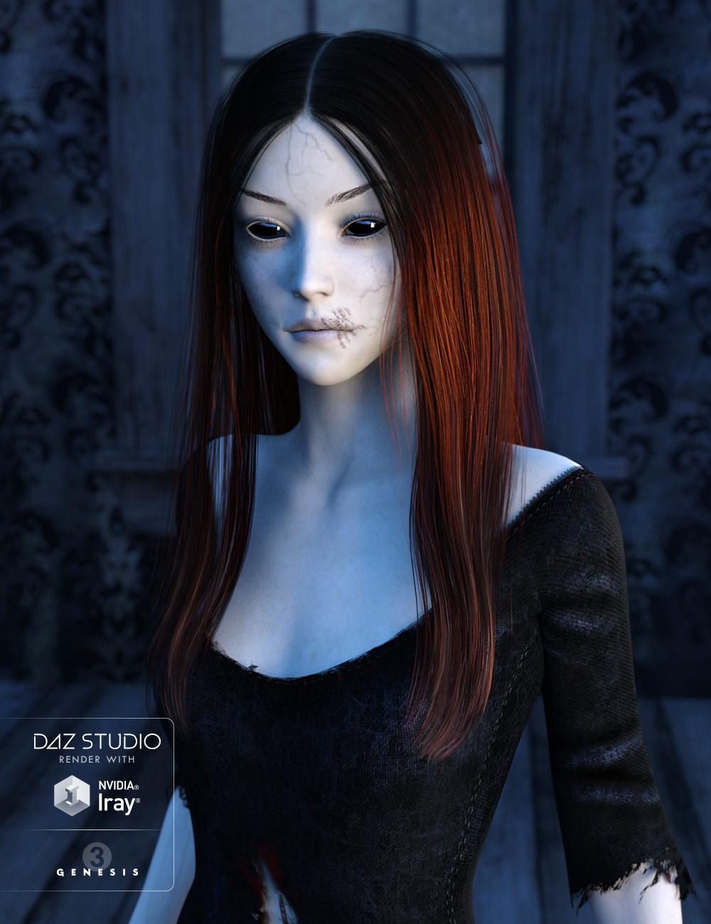 Sorrow Hair for Genesis 3 Female(s) by: goldtassel, 3D Models by Daz 3D