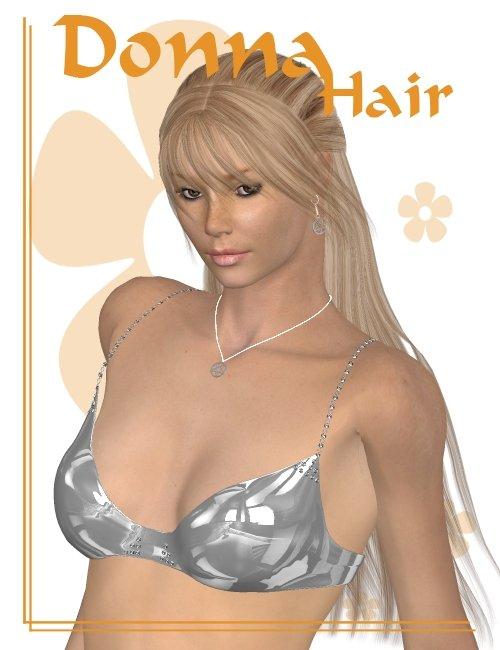 Donna Hair by: Lisbeth N, 3D Models by Daz 3D