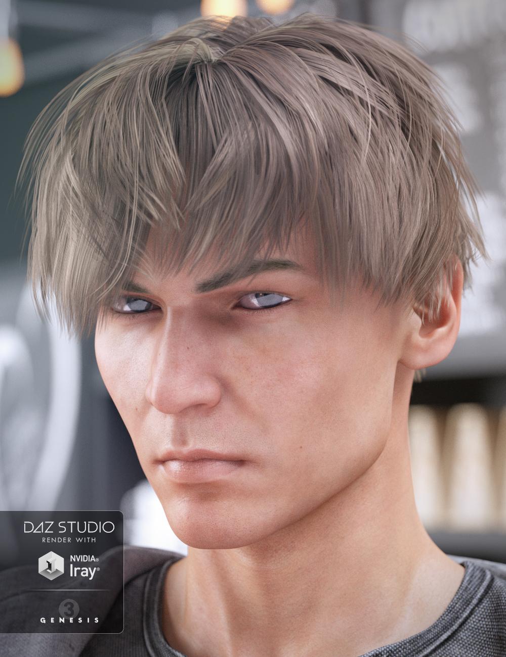 AJ Hair for Genesis 3 Male(s) by: goldtassel, 3D Models by Daz 3D