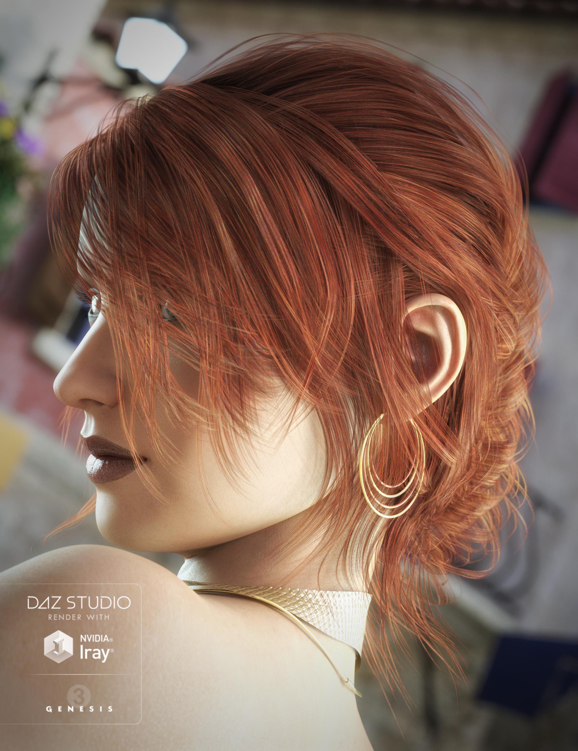 French Twist Hair for Genesis 3 Female(s) by: goldtassel, 3D Models by Daz 3D