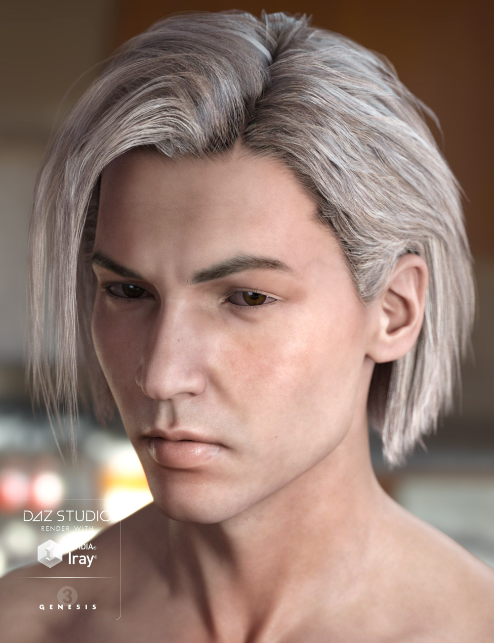 Dax Hair for Genesis 3 Male(s) & Female(s) by: AprilYSH, 3D Models by Daz 3D