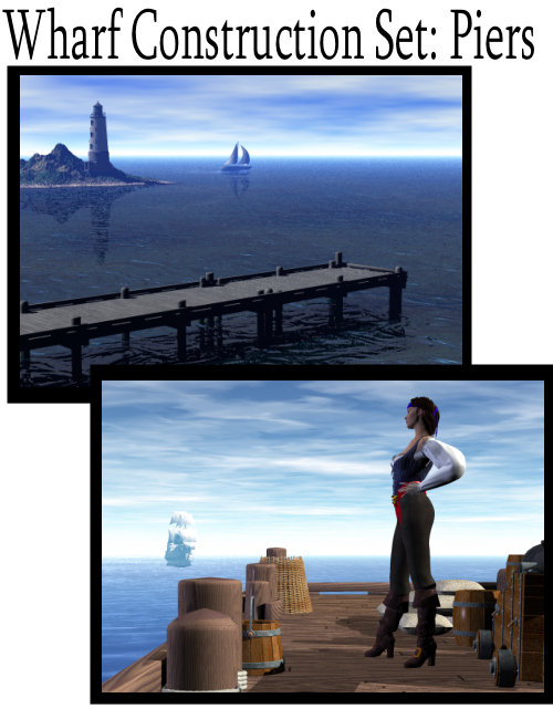 Wharf Construction Set: Piers by: the3dwizard, 3D Models by Daz 3D