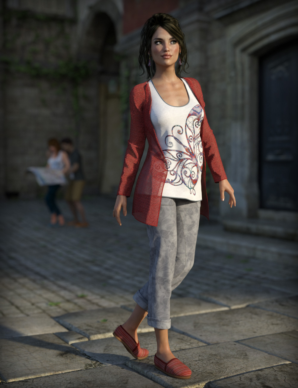 Casual Tourist for Genesis 3 Female(s) by: esha, 3D Models by Daz 3D