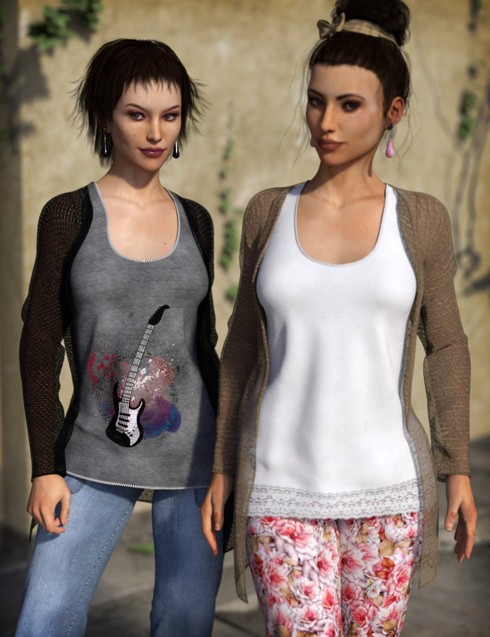 Casual Tourist Experience Add-On by: esha, 3D Models by Daz 3D