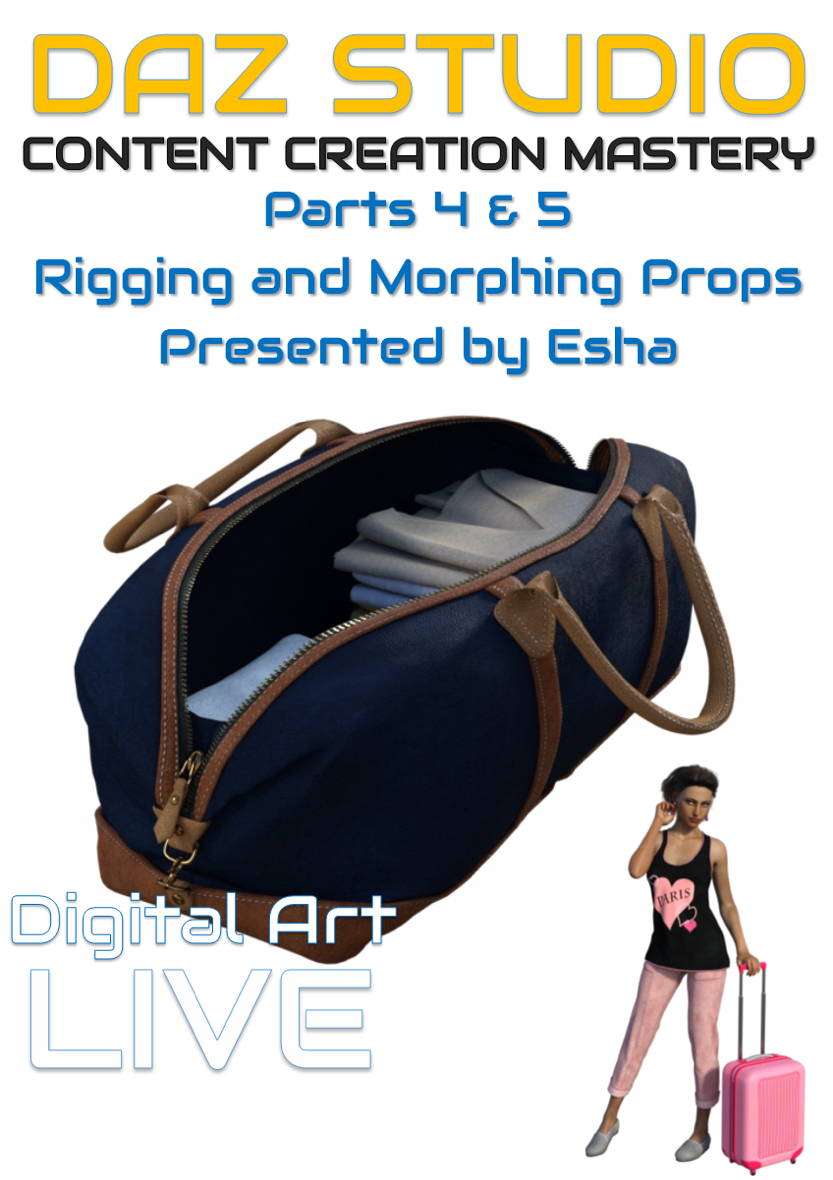 Daz Studio Content Creation Mastery Parts 4 and 5 : Rigging & Morphing Props by: Digital Art Liveesha, 3D Models by Daz 3D