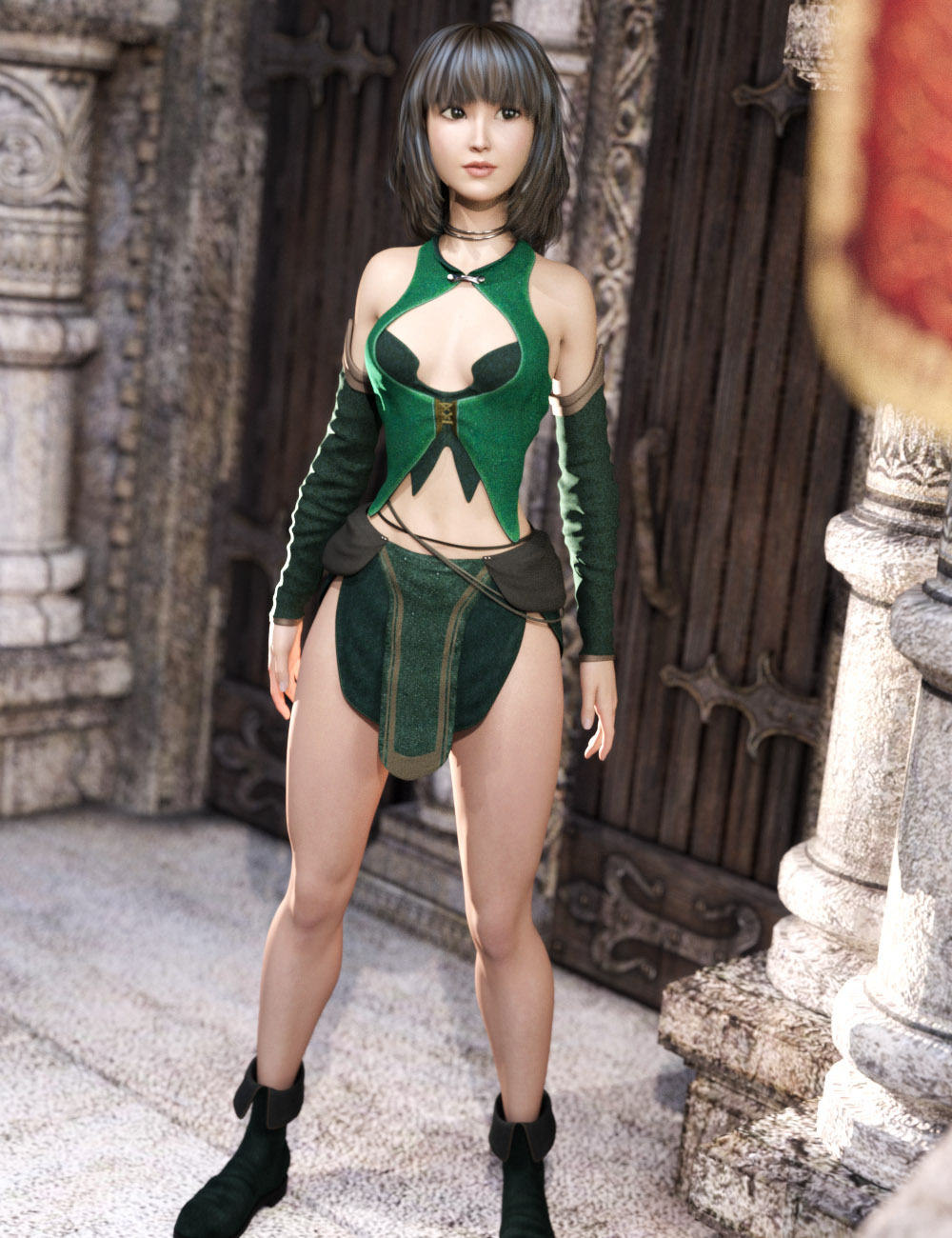 Innocent Witch for Genesis 3 Female(s) by: tentman, 3D Models by Daz 3D