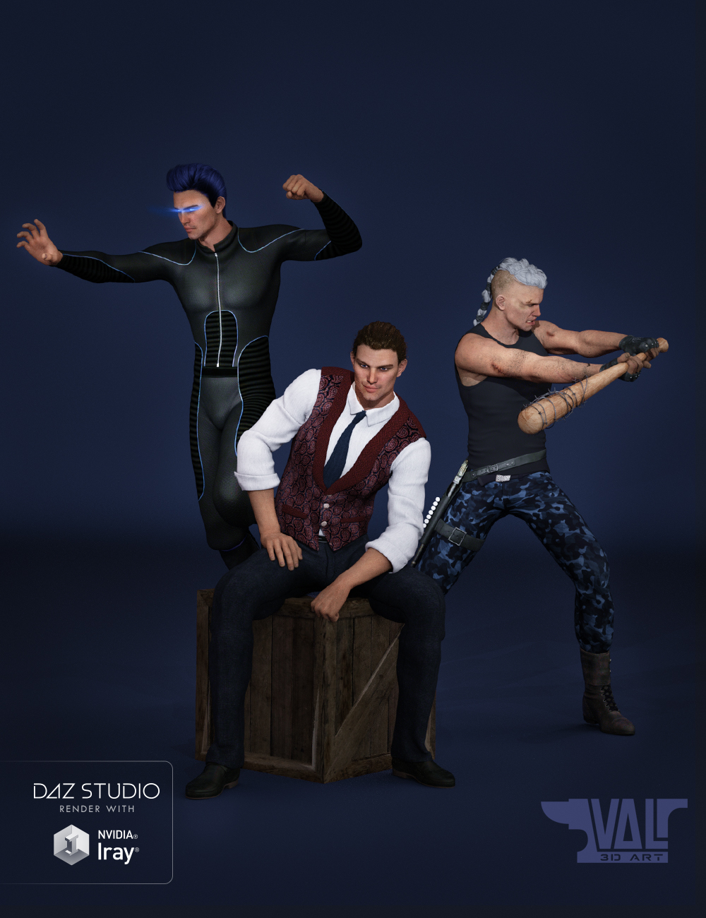 Male Essentials Poses and Expressions for Genesis 3 Male(s) by: Val3dart, 3D Models by Daz 3D